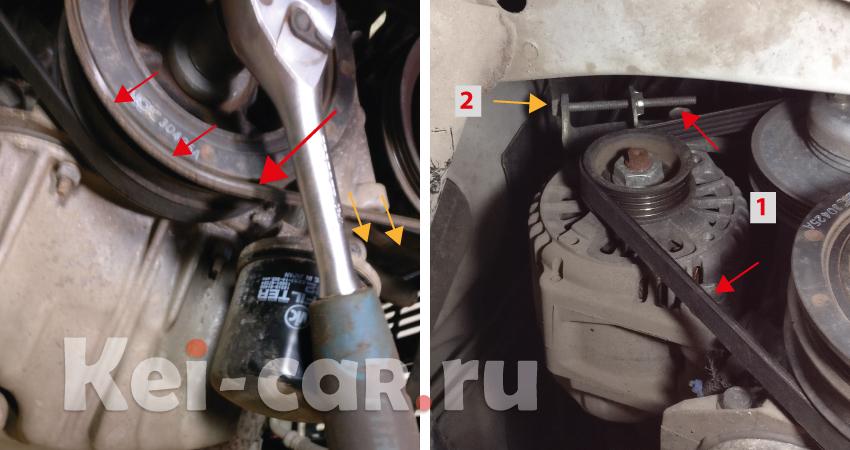 замена ремня генератора Daihatsu Tanto